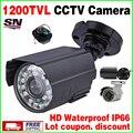 Горячий Стиль Металла Мини 1/3 cmos 1200TVL HD CCTV КАМЕРЫ Видеонаблюдения цвет Небольшой ahdl Камеры Инфракрасного Ночного Видения 30 м Ик Выход IP66