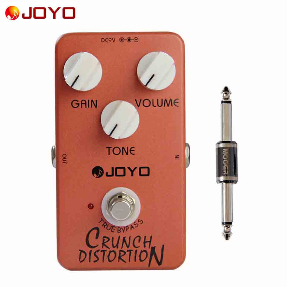 ФОТО JOYO True Bypass Pedal JF-03 Crunch Distortion (British Classic Rock Distortion) Guitar Pedal with Effects Connector 1pc