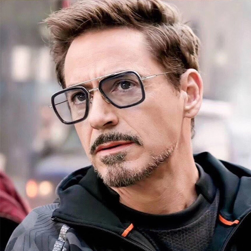 Image 2 - Iron man Tony Stark sunglasses myopia Robert downey jr Avengers  steampunk anti blue light photochromic Spider Man Edith Glasses-in Men's Sunglasses from Apparel Accessories