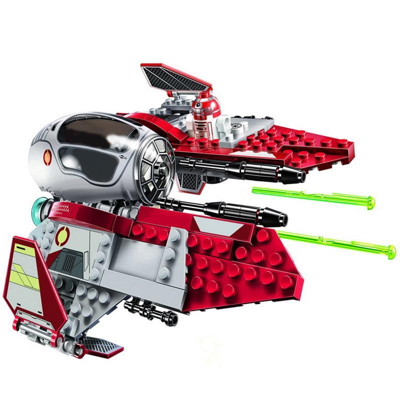 BALE Star Wars 10575 Obi-Wan Jedi Interceptor Model Building Blocks Enlighten Action Figure Toys For Children Compatible Legoe