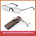 Fashion Style Slim Reading Glasses Alloy Super Quality Eyeglass Frame Eyewear with Case
