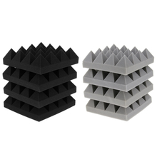 4Pcs Soundproof Sponge Studio Pyramid Sound Stop Panel Acoustic Foam KTV Parts