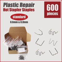 Plastic Welding Bumper Repair Car Kit Hot Stapler Staples Welder Gun Machine Soldering Iron Tips Fix