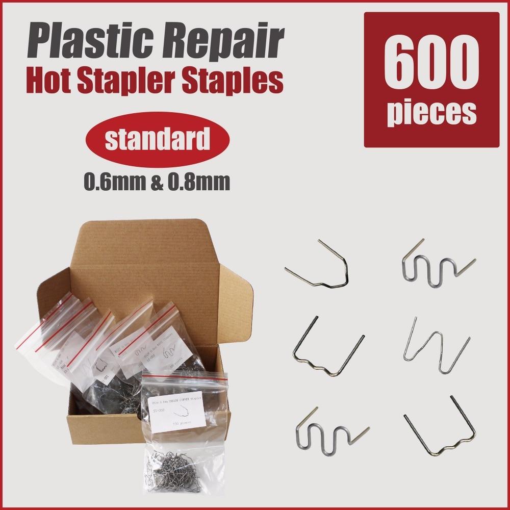 staples for hot stapler plastic repair system bumper spoiler dashboard u shape 0.8mm 0.6mm standard welding gun car body tools