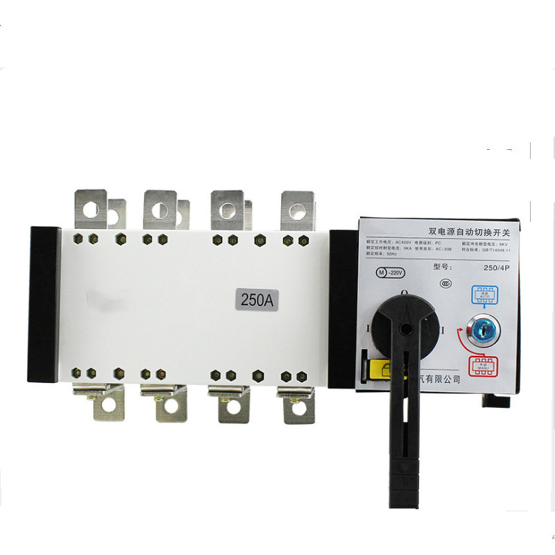 4P 250A 400V Dual Power Transfer Switch Universal switch ATS 220V ac diesel generator set part electric circuit breaker switch цены онлайн