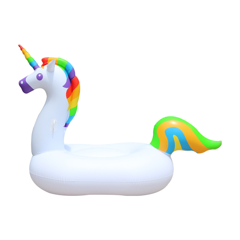 Summer 250cm Swimming Pool Float Giant Inflatable Unicorn In Water Floating Row Air Mattresses Swim Rings Water Sports Fun Toy