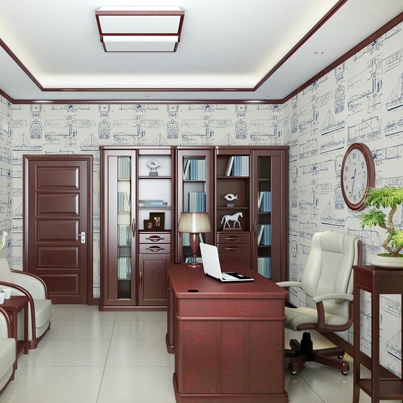 Beibehang style européen simple chambre d'enfants non-tissé papier peint garçon fille chambre avion dessin animé papier peint 3d plancher - 6