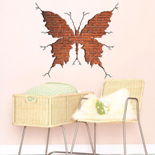 Dropshipping Removable Art Mural 3D butterfly burst wall Home Living R
