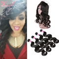 360 Lace Frontal With Bundle Peruvian Body Wave With 360 Lace Frontal 3 Bundles Human Hair Weft With 360 Frontal Body Wave Hair