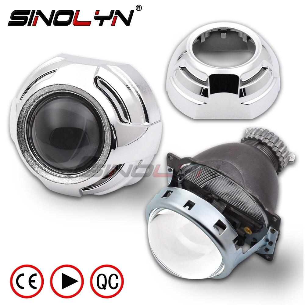 SINOLYN 3,0 дюйма D2S Bi xenon HID объектив проектора W/WO Apollo кожухи для автомобиля модернизированная фара комплект H4 автомобилей Автомобили настройки