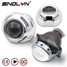 SINOLYN 3.0 inch D2S HID Bi xenon Projector Lens W/WO Apollo Shrouds For Car Headlight Retrofit Kit H4 Car Automobiles Tuning