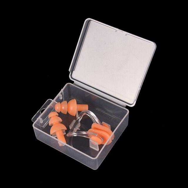 78ac2afda Com Caixa de Tampão de Natação Clipe Nasal Conjunto Kit À Prova D  Água  Esportes