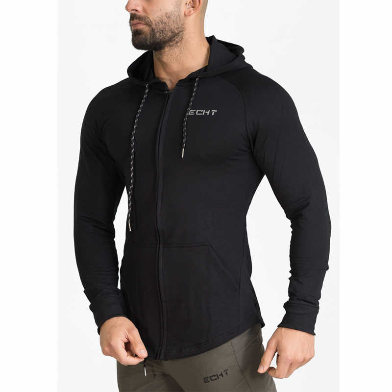 2019 Men Brand Hoodies Sport Running Training Fitness bodybuilding Sweatshirt Fashion Sportswear Male Hooded Jacket Hoodies