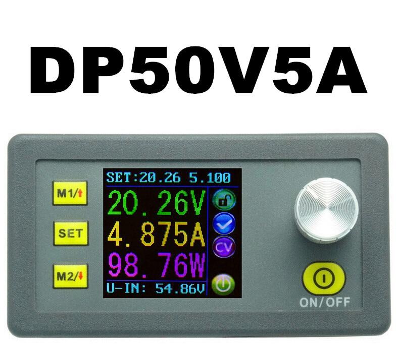LCD converter Adjustable Voltage meter Regulator DP50V5A Programmable Powerr Supply Module Buck Voltmeter Ammeter Current tester dp50v2a buck adjustable dc power supply module with integrated voltmeter ammeter color display