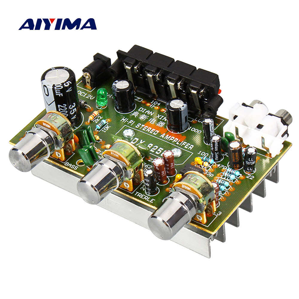 AIYIMA 4558 2.0 Audio Amplifier Board 30W*2 Audio Dual Channel HIFI Stereo AMP Board For DIY Speaker Accessories DC 12V 2A
