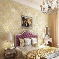 Damascus European Wallpaper To Wallpaper Walls 3D Paper Wallcovering Wall Floral Nonwoven Wallpaper Damask Home Decor