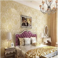 Damascus European Wallpaper To Wallpaper Walls 3D Paper Wallcovering Wall Floral Nonwoven Wallpaper Damask Home Decor