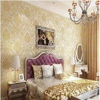 beibehang Damascus European wallpaper to wallpaper walls 3D paper wallcovering wall Floral nonwoven wallpaper damask home decor