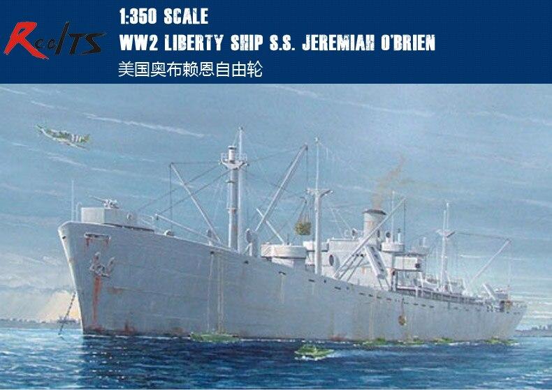 RealTS Trumpeter 1/350 05301 WW2 Liberty Ship S.S. Jeremiah O'Brien Model Kit realts trumpeter 1 144 03904 tu 95ms bear h model kit