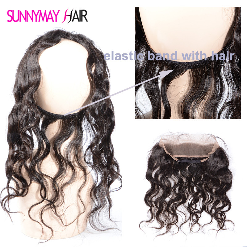 ФОТО New Style 360 Lace Frontal With Natural Hairline Natural Wave Brazilian 360 Lace Virgin Hair 13x2 Lace Band Frontal