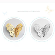 12 Pcs Gold and Silver Thick Paper Card 3D Hollow Wall Stickers