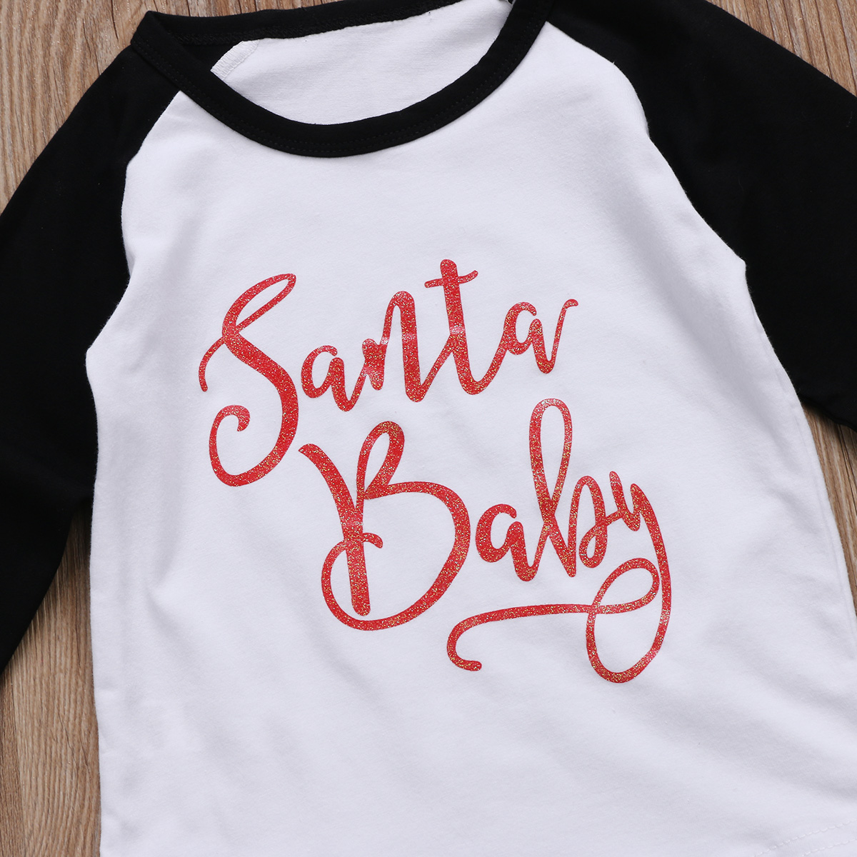 8723f4cd9499d9 Kerst Baby Jongen Meisje Kinderen Katoenen T shirt Tops Lange Mouwen Zwart  Wit Patchwork T Shirts in Kerst Baby Jongen Meisje Kinderen Katoenen T-shirt  Tops ...