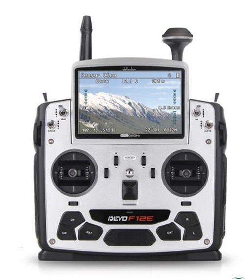 Walkera Devo F12E Transmitter FPV Radio 32 channel 5.8GHz with 5″ LCD Display for H500 X350 pro X800 RC Drone Quadcopter