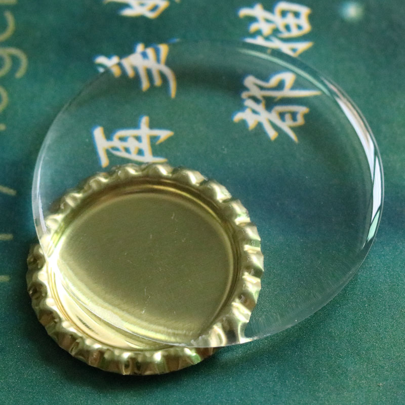 500Pcs 52mm 51mm 50mm 58mm Clear Circle Dome Dots For Jewelry DIY Round Resin Epoxy Sticker