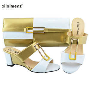 Image 3 - New Shop 40% Discount 2018 New Arrival Ladies Nigerian Shoes and Matching Bags Hot Sales Women Fashion Wedges Mix Color