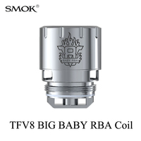 Electronic Cigarette Cores SMOK TFV8 BIG BABY RBA Coil Smok Atomizer Core Vape Box Mod TFV8