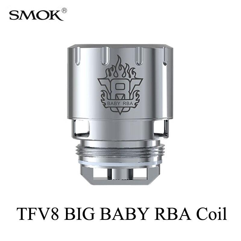 Cigarrillo electrónico núcleos smok TFV8 bebé grande RBA bobina stick V8 atomizador Core G150 G320 g-priv H- priv GX2/4 camiseta priv RBA bobina S039
