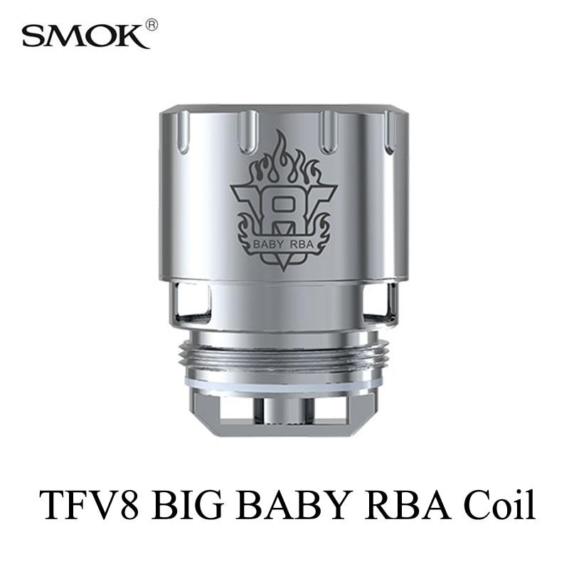Noyaux de cigarettes électroniques SMOK TFV8 gros bébé RBA bobine atomiseur noyau G150 G320 G-Priv h-priv GX2/4 t-priv s-priv RBA bobine S039