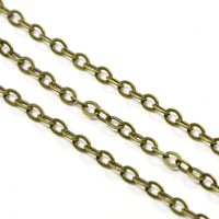 92m Vintage Style Brass Cable Chains for DIY Necklace Making Jewelry Findings