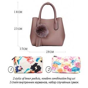 Image 3 - MIYACO Bolso de mano de estilo mensajero para mujer, bolsa de mano femenina, conjunto informal con bolso con flores