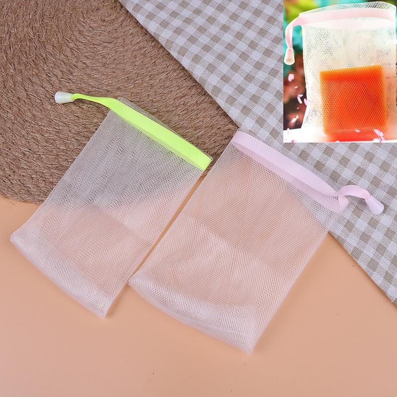 2pcs Lotsoap Bag Foam Mesh Soaped Glove For Foaming
