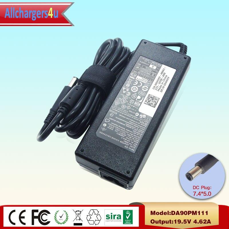 Genuine OEM For Dell Laptop 90W 19.5V 4.62A AC Adapter DA90PM111 0W6KV LA90PM130