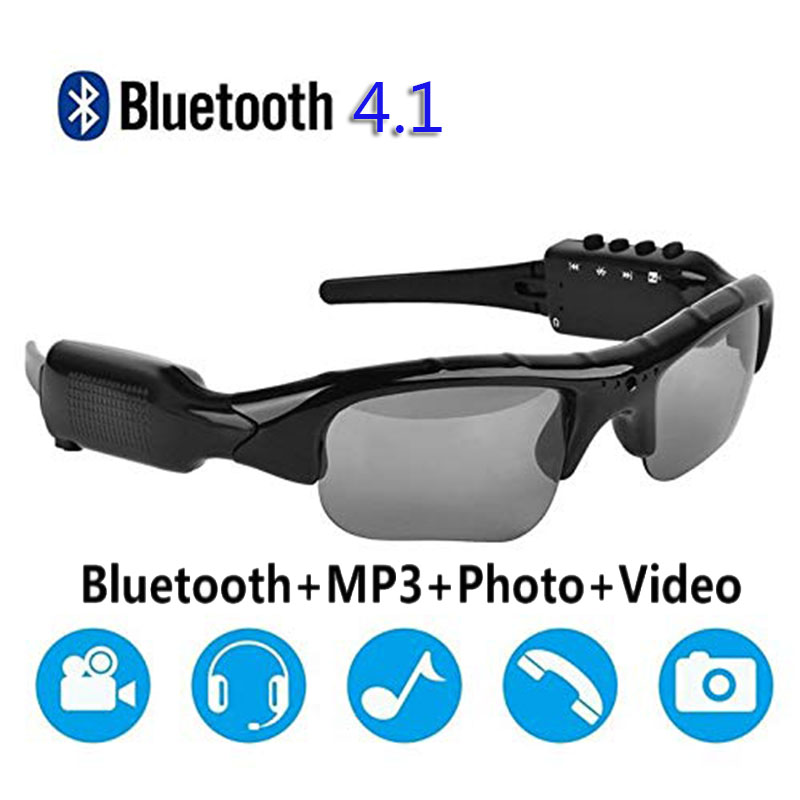 1080P Bluetooth Sunglasses Camera Glasses Full HD 1080P With Wide Angle Mini Camera Drive,Horse Riding,Fishing,Outdoor Sports
