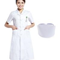 Women Men White Medical Coat Clothing Medical Uniform Nurse Services Clothing Long Sleeve Polyester Protect Lab