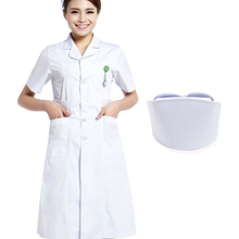 Women jaleco White  Lab Coat Medical Coat +Cap, S-3XL Medical Uniform Nurse Services Clothing Long-sleeve Polyester Protect