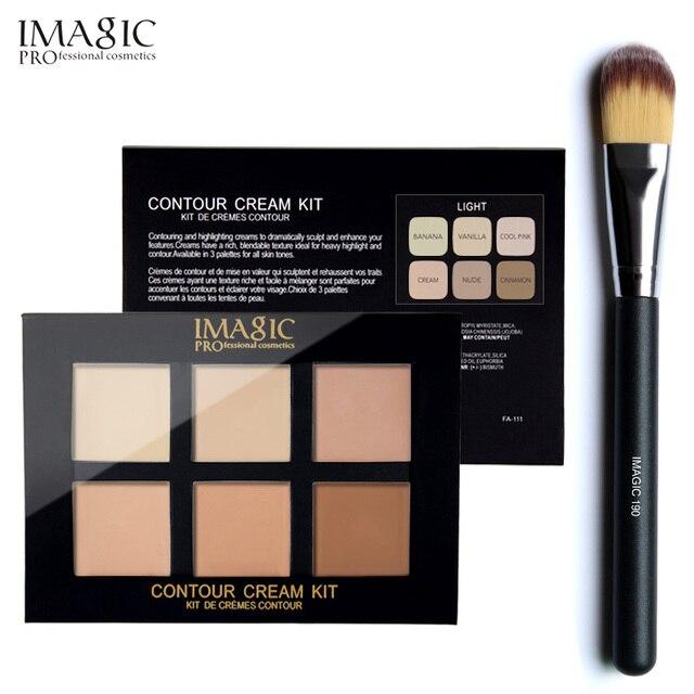 IAMGIC Природный Профессиональный корректор палитры 6 цветов крем Макияж Фонд контур лица крем для лица Косметические кисти для макияжа