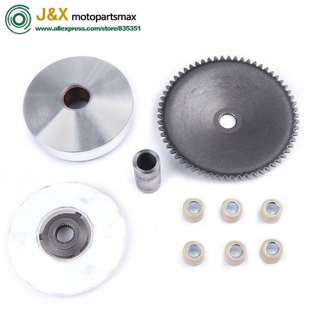 US $3 98 |Free Shipping GY6 49cc 50cc Chinese Scooter Moped Variator Kit  Front Clutch Drive Pulley Roller 139QMB/139QMA TAOTAO SUNL ZNEN on