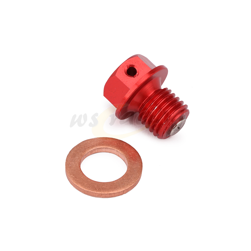 Motorcycle Magnetic Frame Oil Drain Plug Bolt For <font><b>ATC</b></font> 110 125M 185S 200 250 70 90 Big Red Foreman <font><b>400</b></font> 450 500 FourTrax Rancher image