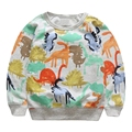 Baby Boys Sweatshirts 2016 New Dinosaur Printed Hoodies Cotton Long Sleeve Cute Kids Shirts Outwear Autumn Clothing 3-7T GT37