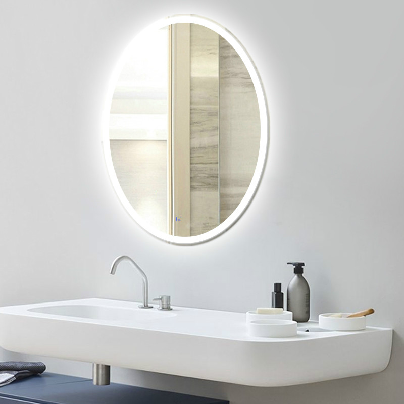 Bathroom Oval shape Led Wall Sconce Mirror Led Lamp Oval Mirror Light Toilet Makeup Mirror Led wall light with Touch switch
