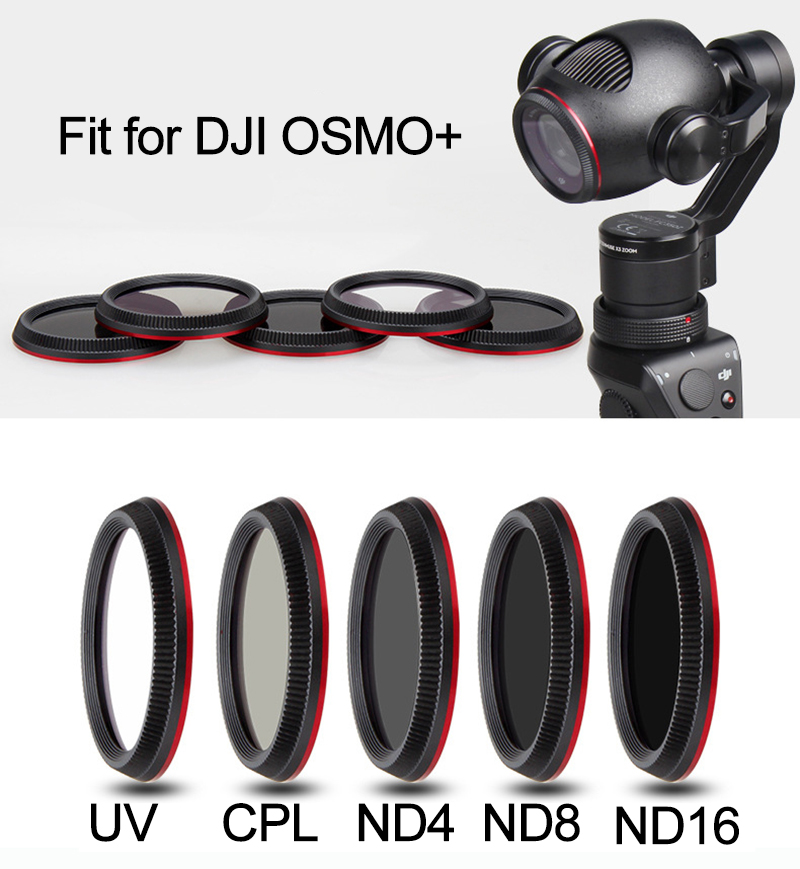 OSMO Plus Lens Filter UV CPL ND4 ND8 ND16 for DJI OSMO+ Handheld Gimbal Camera Stabilizer Polarizing Neutral Density Filter Kits
