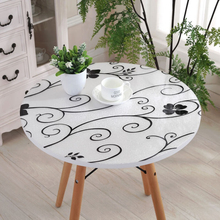 kitchen home soft glass floral waterproof Dining anti scald oil proof crystal round PVC cover placemat table cloth mat