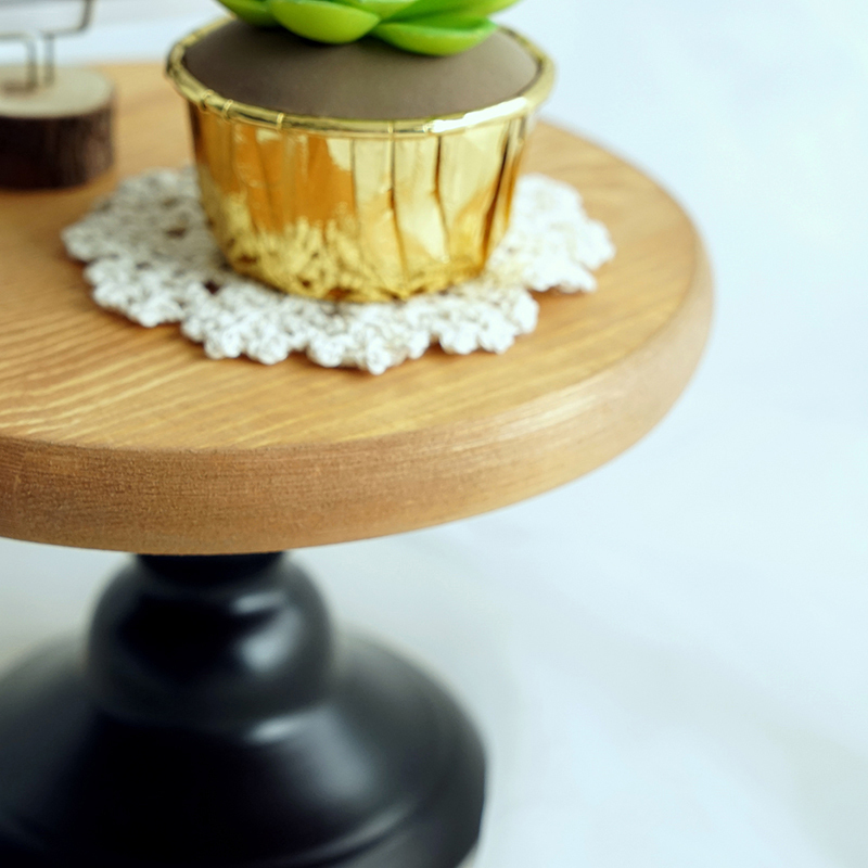 6 inch Wood cake stand wedding cake tools fondant art plate for ...