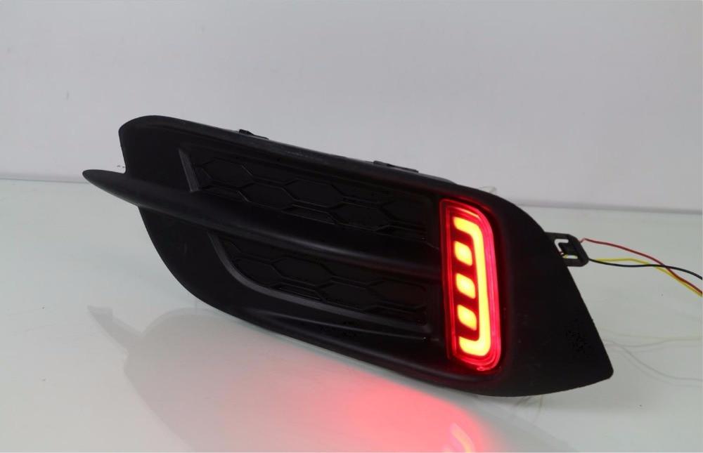 Osmrk светодиодные задние бампера света, стоп-сигнала, дальнего света, ночного светильника, 2 функции для Хонда Цивик 10-м 2016 2017