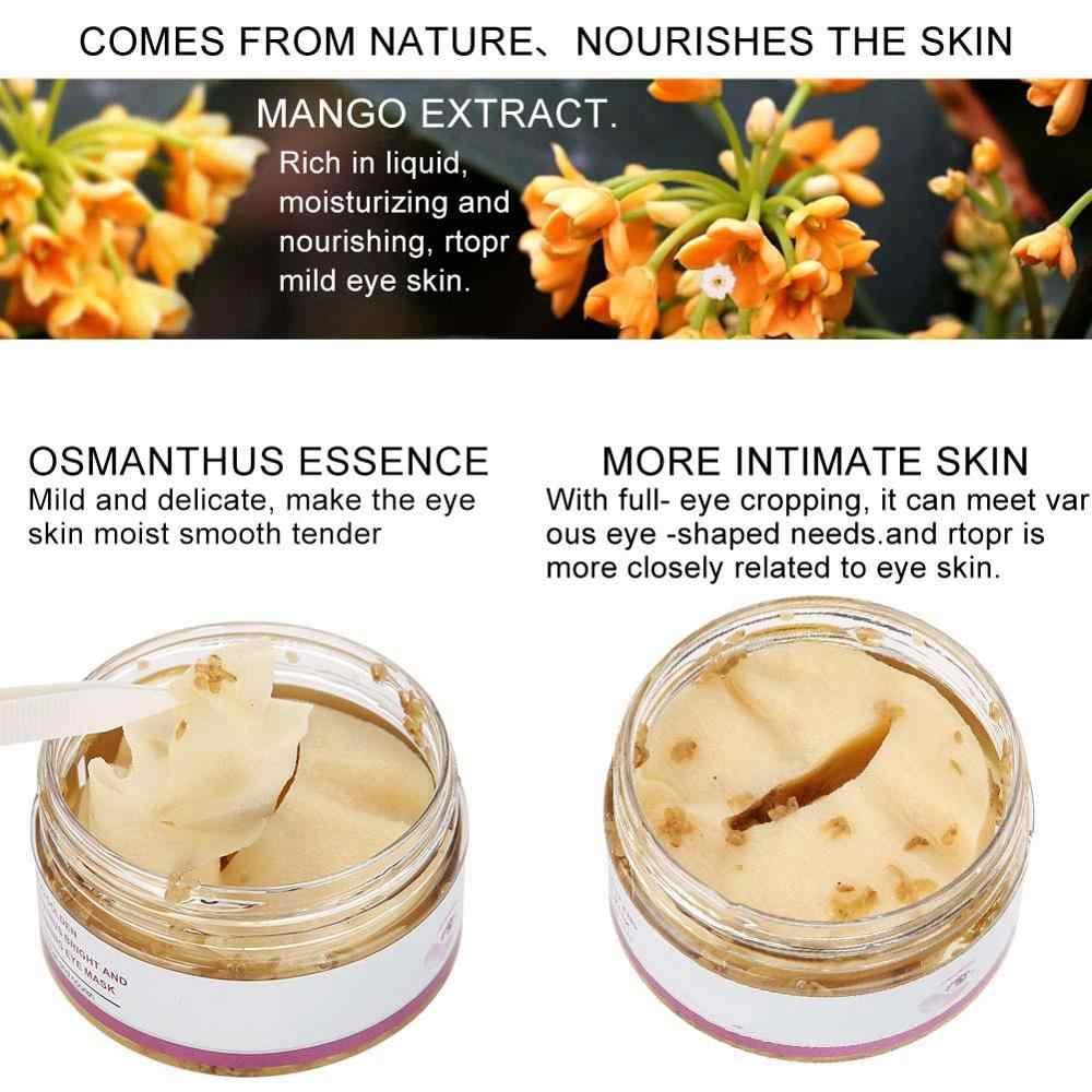 40 Pz/scatola Maschera per Gli Occhi Mango Osmanto Dorato Brillante E Nutriente Cura Della Pelle Anti-Gonfiore Cerchio Scuro Anti-Invecchiamento maschera Trattamento