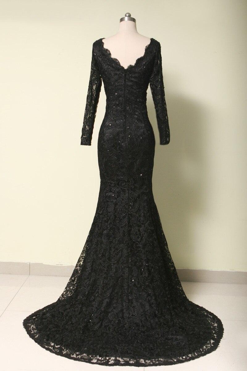 Formal Evening Dress 2017 Custom Made Black Lace Mermaid Evening ...